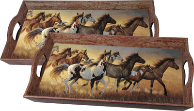 Tray and Service with horses