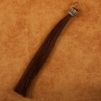 Horse Hair Shoo-fly - Brown with Brown and White Turks Head Knot