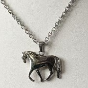 Trotting Horse Pendant in Stainless Steel