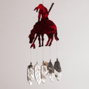 """End of the Trail"" Wind Chimes with Red Powder Coat"