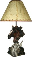 Bust of Horse Table Lamp