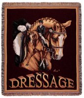 Dressage Horse mid-size tapestry throw