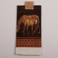 Mare and Foal Terry Kitchen Towel