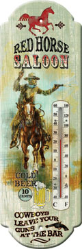 Red Horse Saloon Thermometer