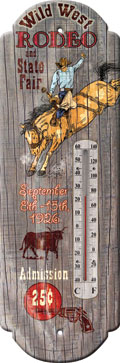 Wild West Rodeo and State Fair Thermometer