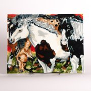 """Grazing Herd"" - Handcrafted Art Tile"