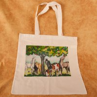 Horses and Apple Tree - tote bag - Value Line