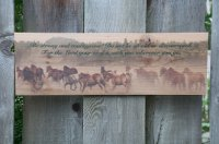 Outdoor Weather Resistant Inspirational Horse Artwork - 5 x 16