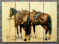 Saddle Up - Weather Resistant Art Signature Series - 16x24