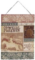 Cowgirl Forever Wall Hanging - Riding her horse