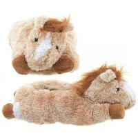 Golden Pony Horse Slippers - Small 8""