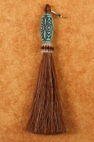 Horse Hair Zipper Pull with Ornate Bead