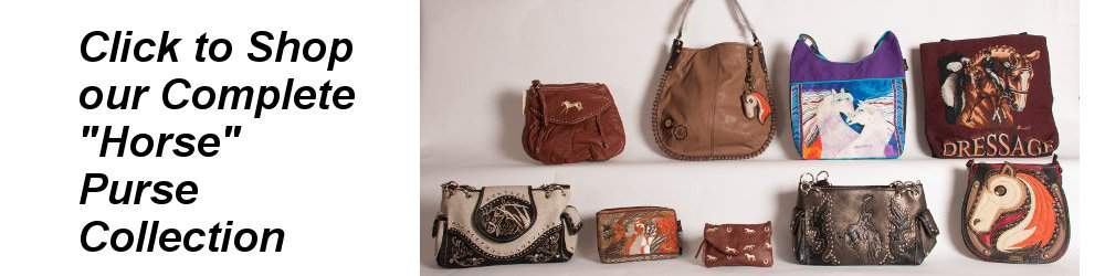 Purses, handbags, totes with horses