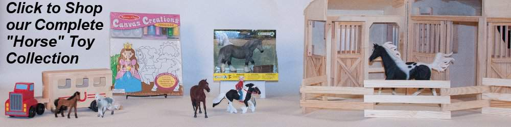 toy horse stables and horses