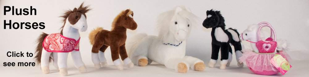 plush stuffed horses